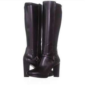🎉HP 🎉Nine West tall black heeled boots, size 8
